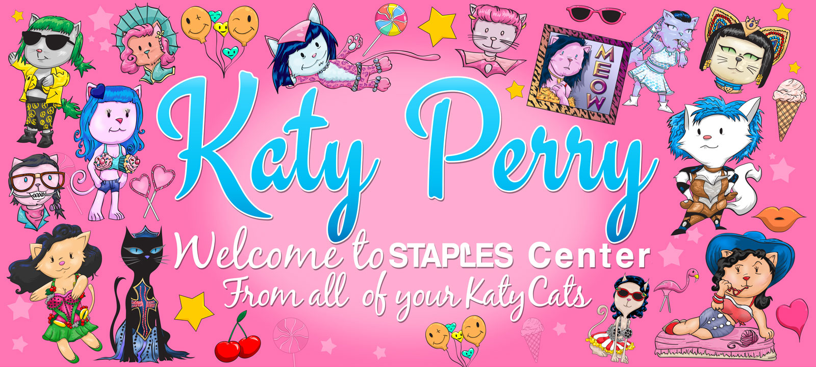 Katy Perry banner design and illustration