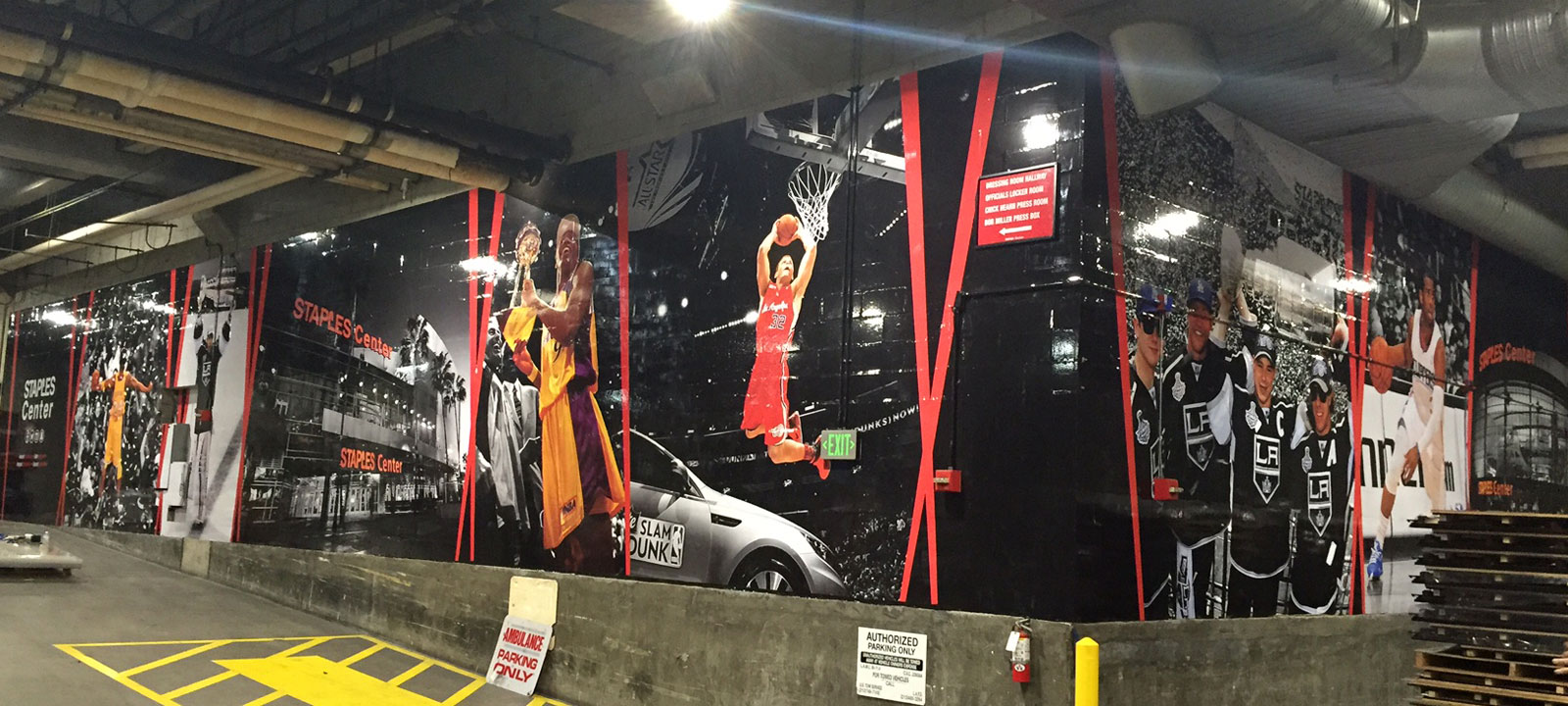 STAPLES Center environmental graphics